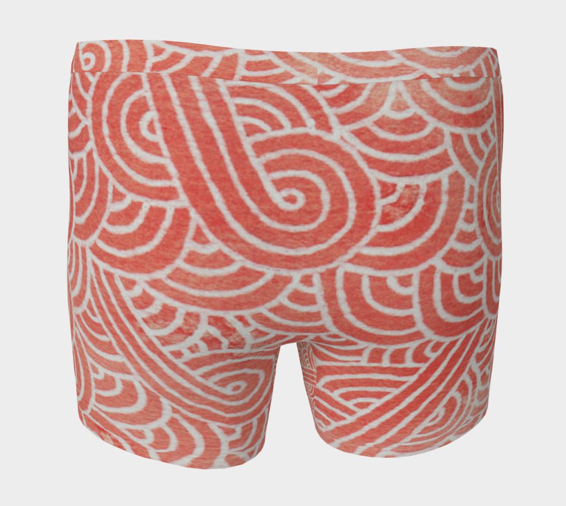 Aperçu de Peach echo and white swirls doodles Boxer Brief #4