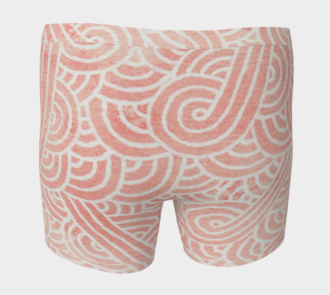 Rose quartz and white swirls doodles Boxer Brief Miniature #5