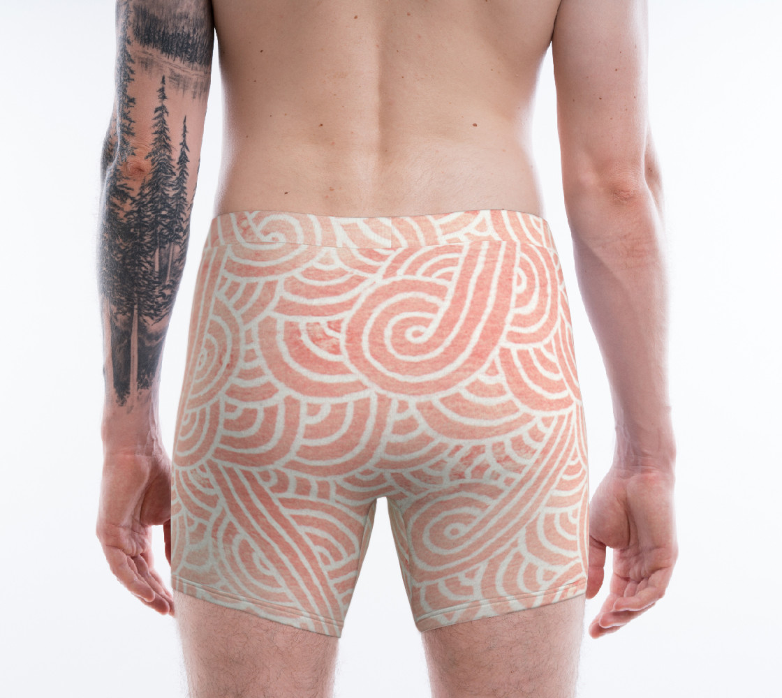 Aperçu de Rose quartz and white swirls doodles Boxer Brief #2