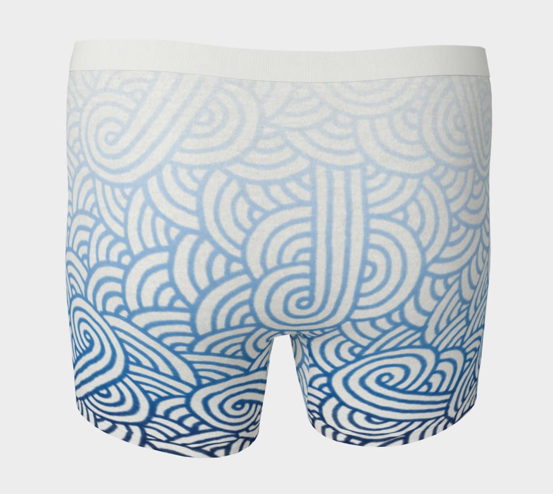 Aperçu de Gradient blue and white swirls doodles Boxer Brief #4
