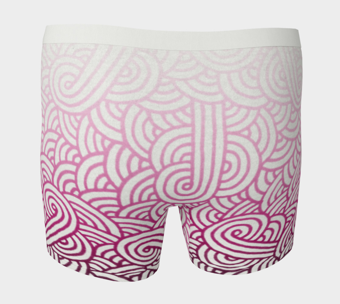 Gradient pink and white swirls doodles Boxer Brief preview #4