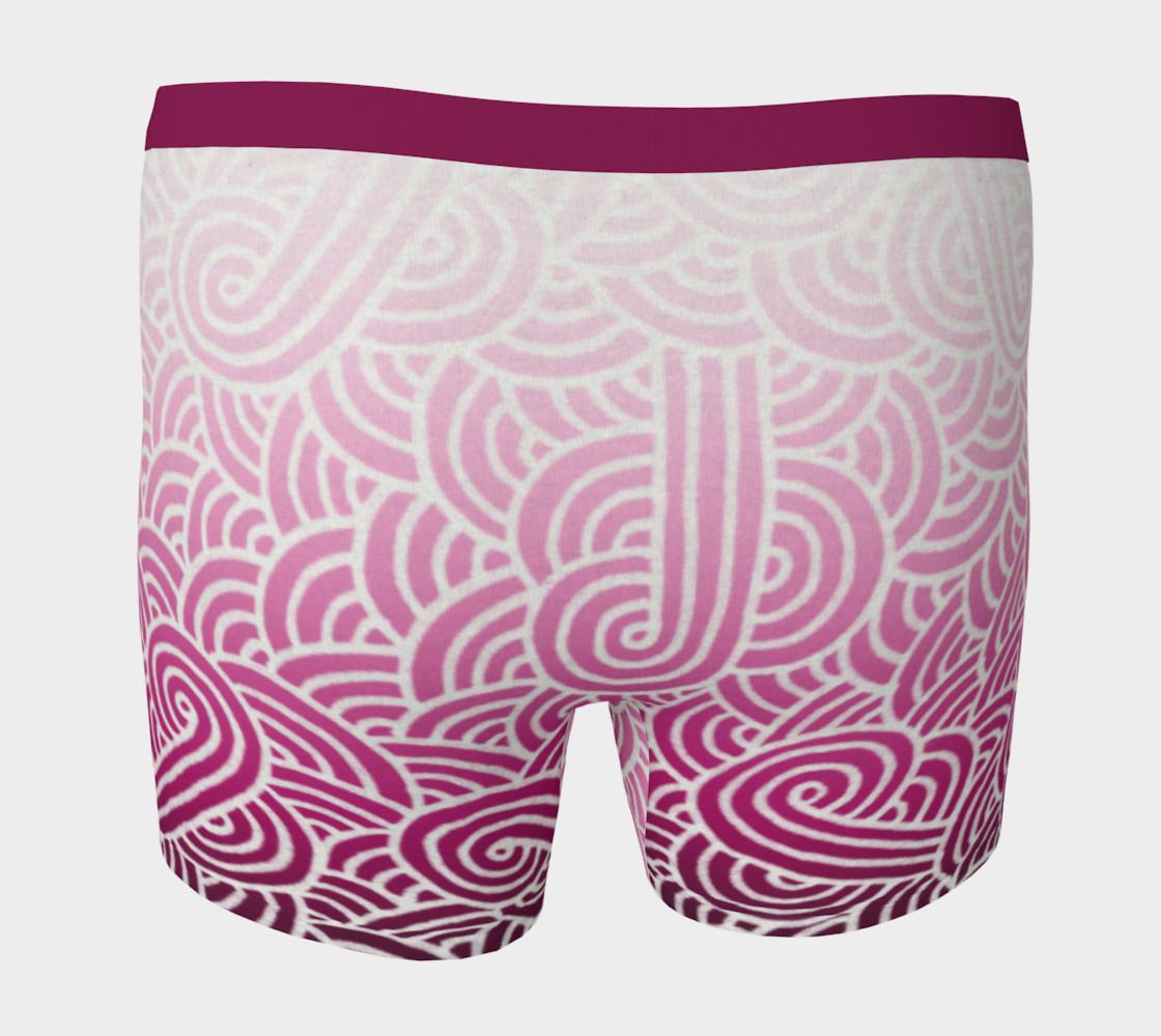 Aperçu de Ombré pink and white swirls doodles Boxer Brief #4