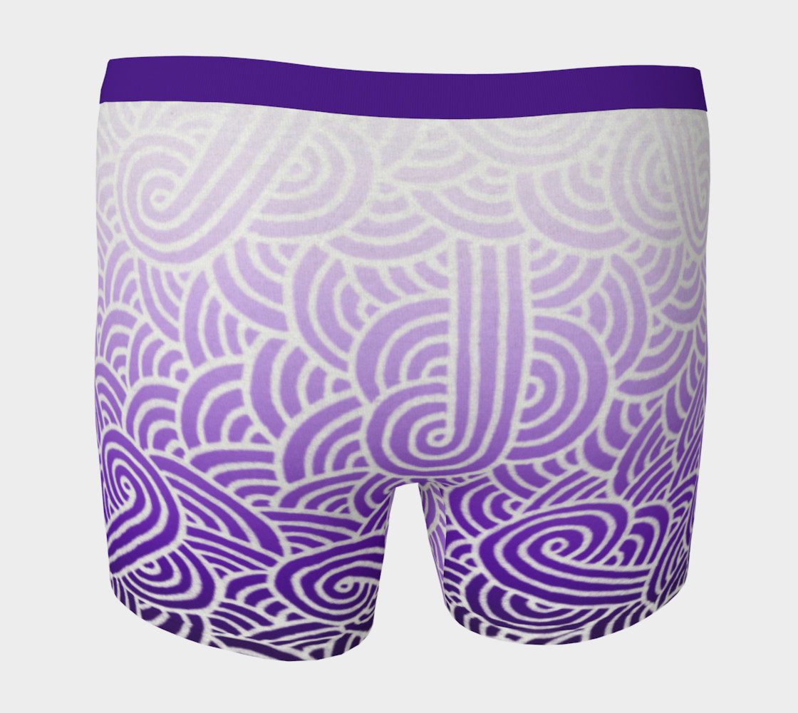 Ombré purple and white swirls doodles Boxer Brief preview #4