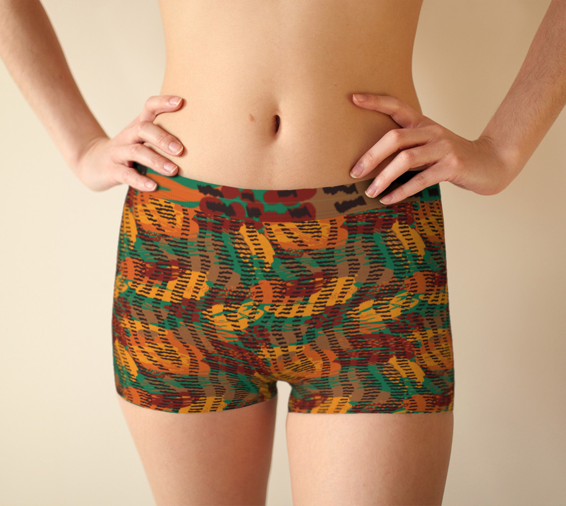 Abstract Animal Stripes BoyShorts preview #1