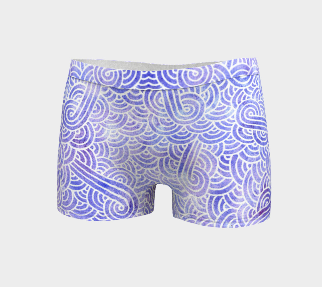 Lavender and white swirls doodles Boyshort preview #3