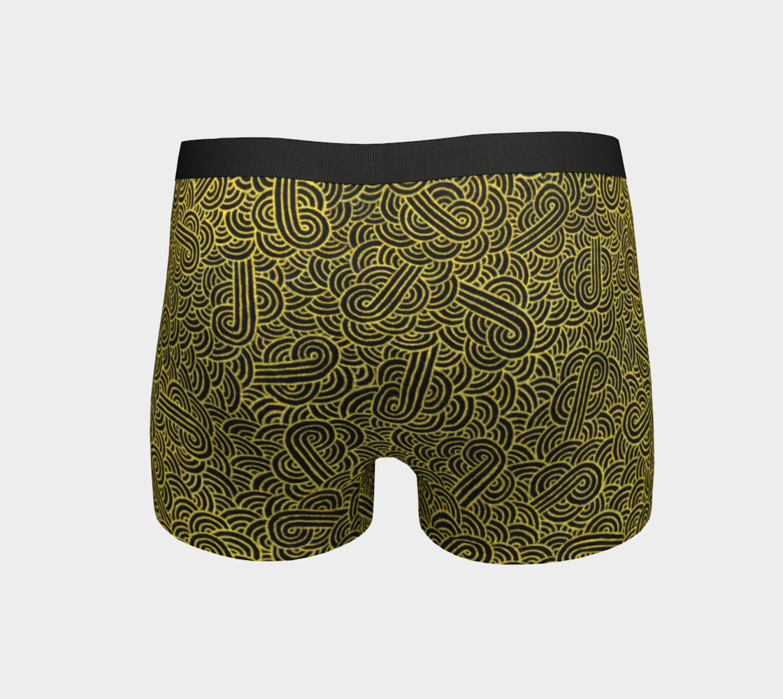 Faux gold and black swirls doodles Boyshort preview #4