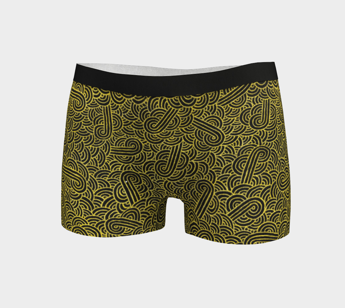 Faux gold and black swirls doodles Boyshort preview #3