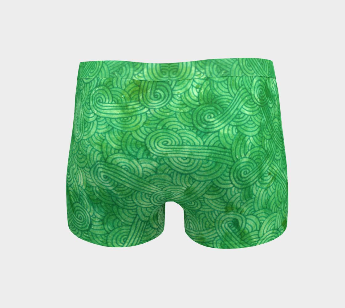 Bright green swirls doodles Boyshort preview #4