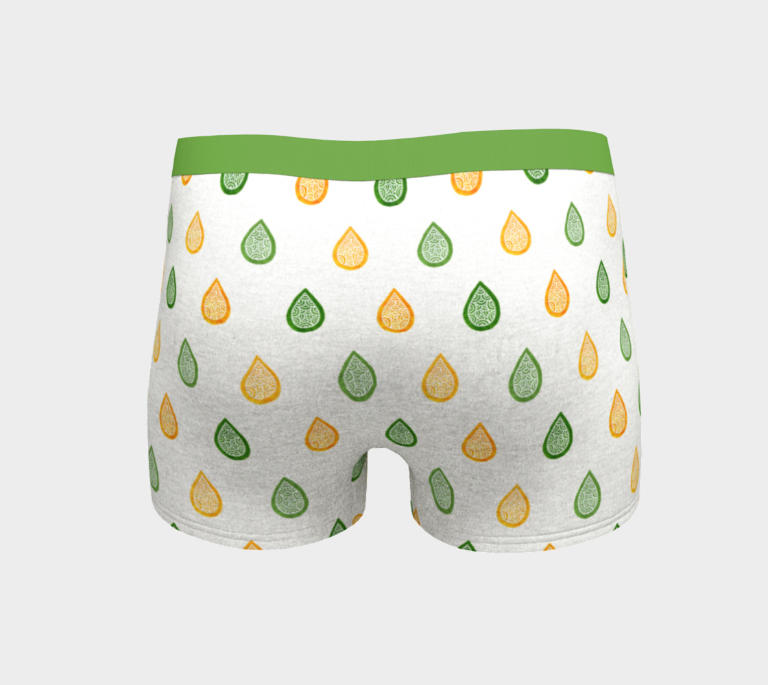 Yellow and green raindrops Boyshort preview #4