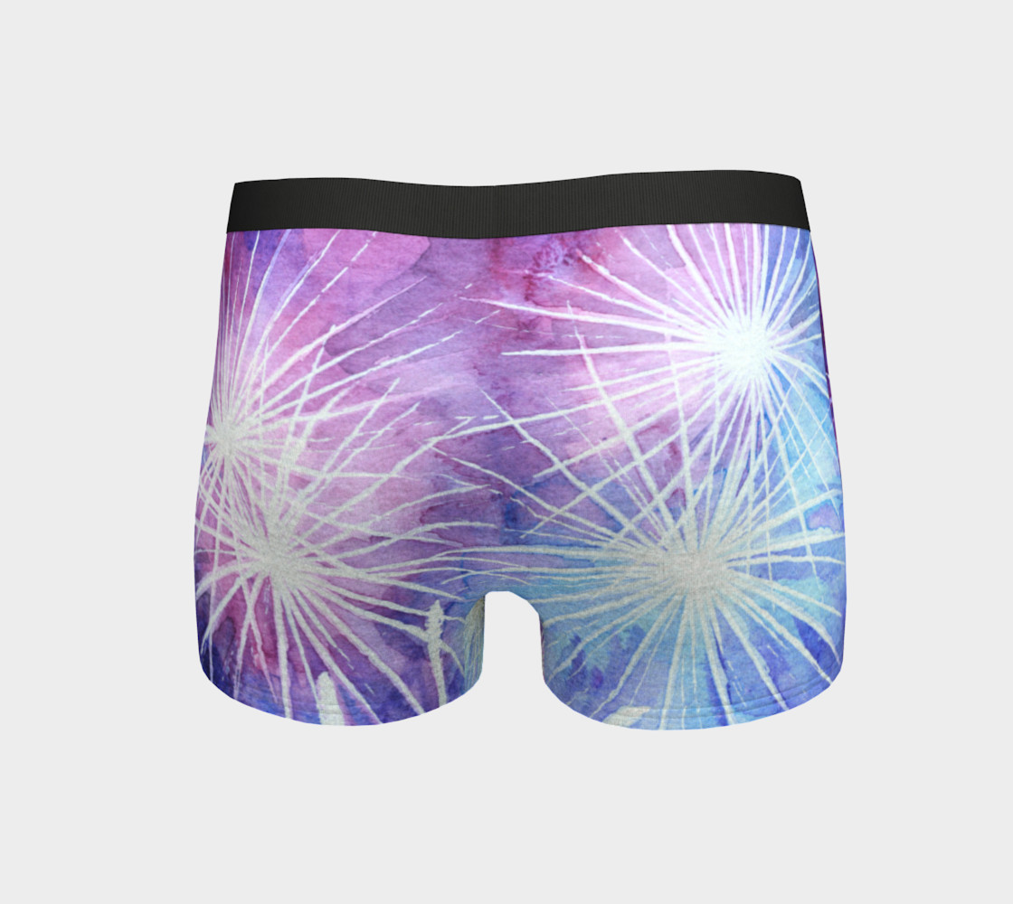 Blue and pink fireworks Boyshort preview #4