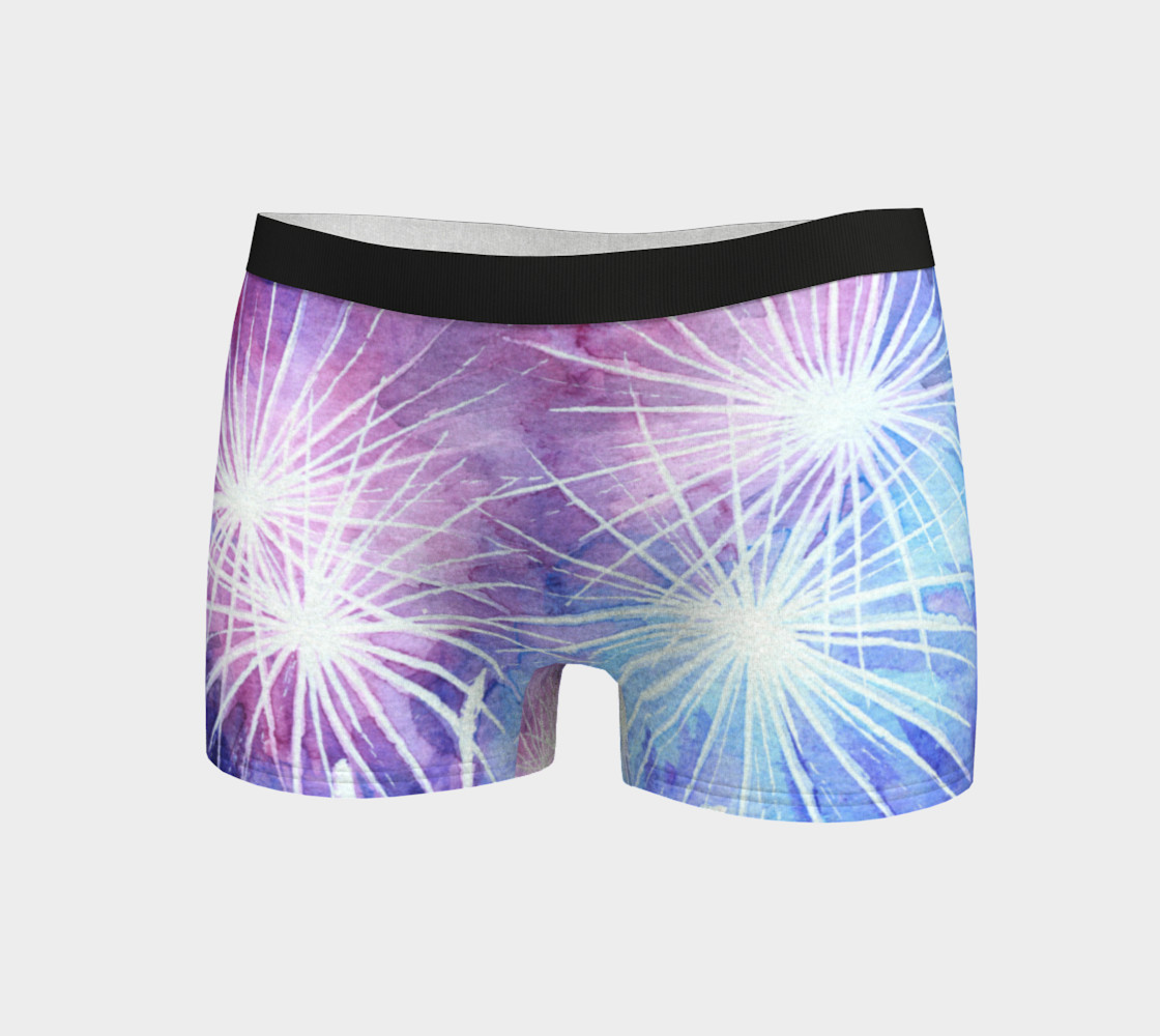 Blue and pink fireworks Boyshort preview #3
