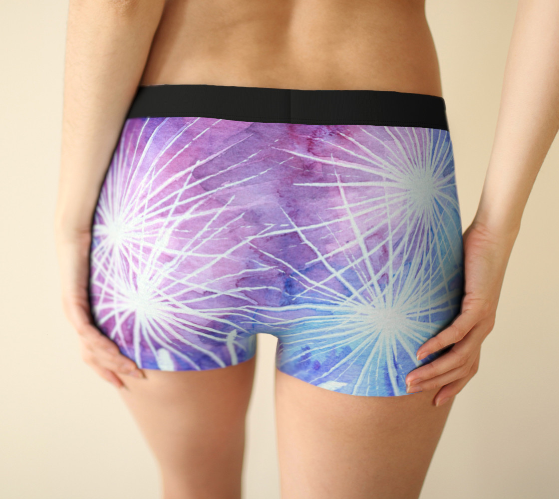Blue and pink fireworks Boyshort preview #2