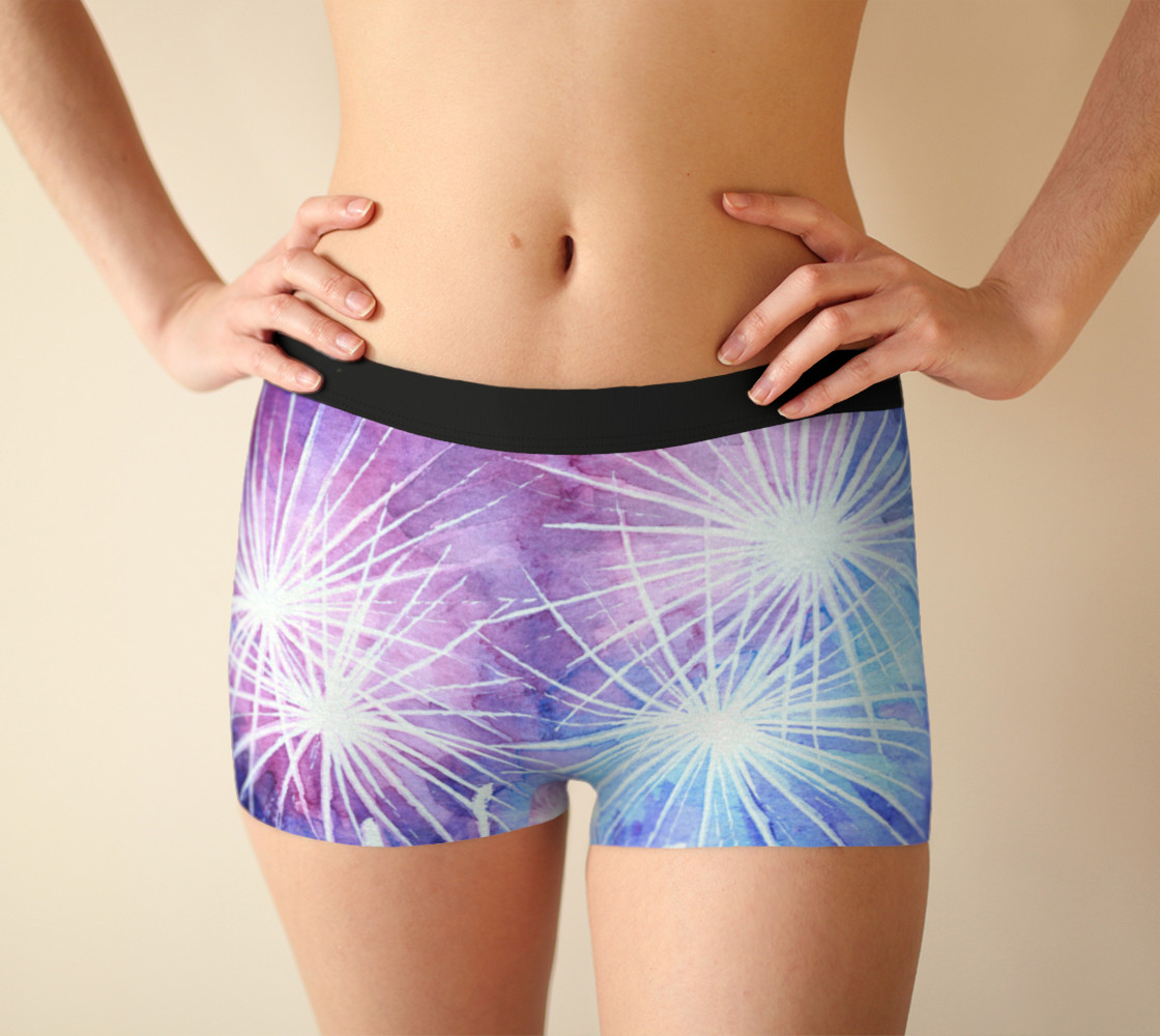 Blue and pink fireworks Boyshort preview #1