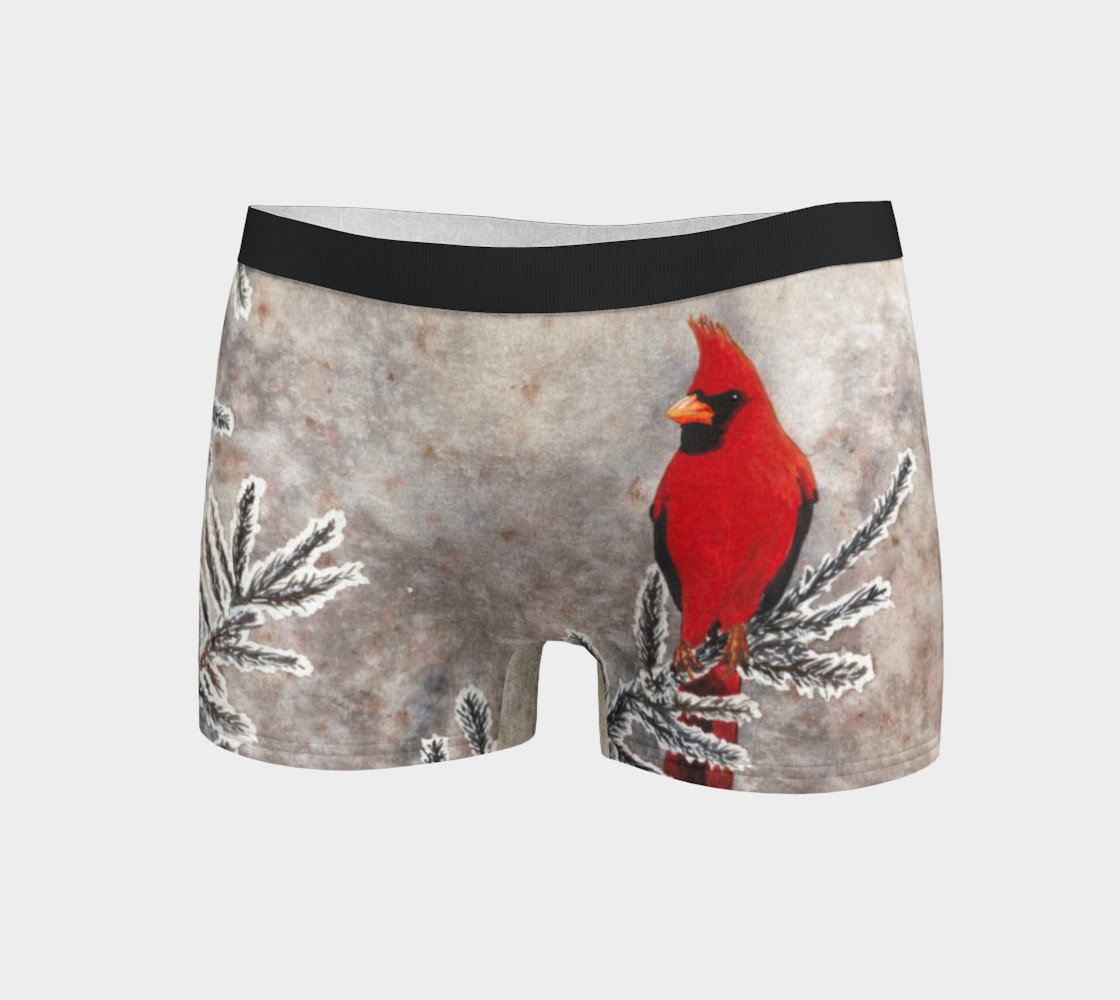 The red cardinal in winter Boyshort preview #3