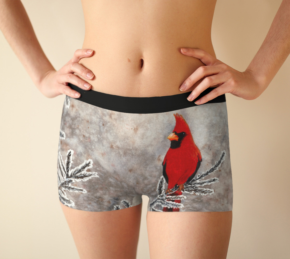 The red cardinal in winter Boyshort preview #1