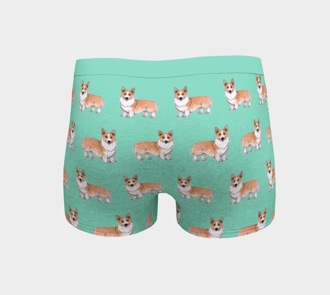 Aperçu de Welsh corgi dogs pattern Boyshort #4