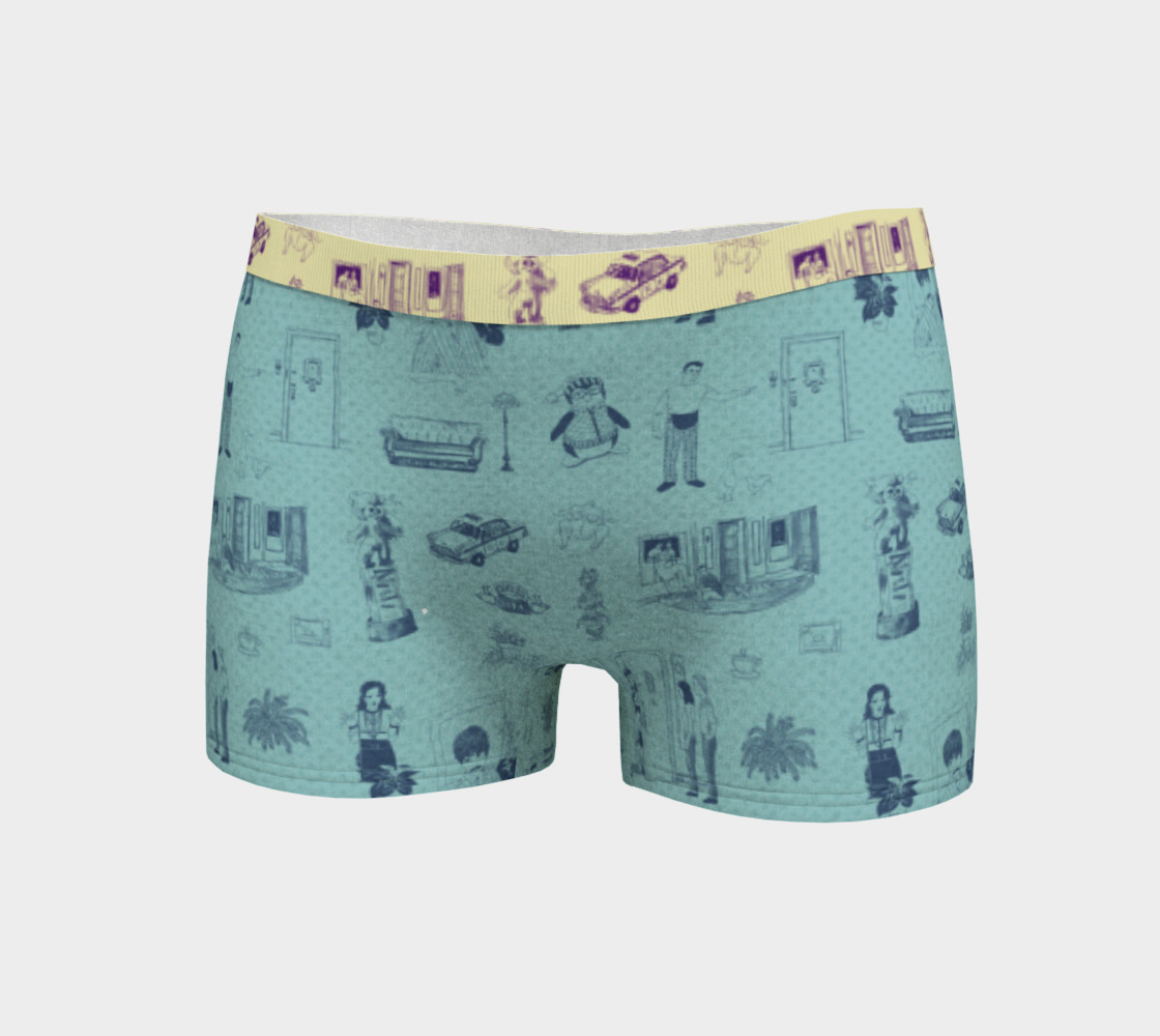 Friends Boyshorts in blue preview #3