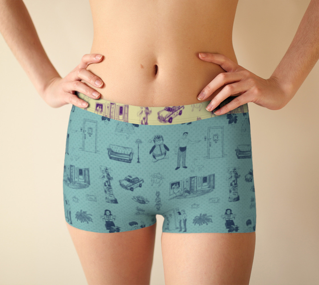 Friends Boyshorts in blue preview #1