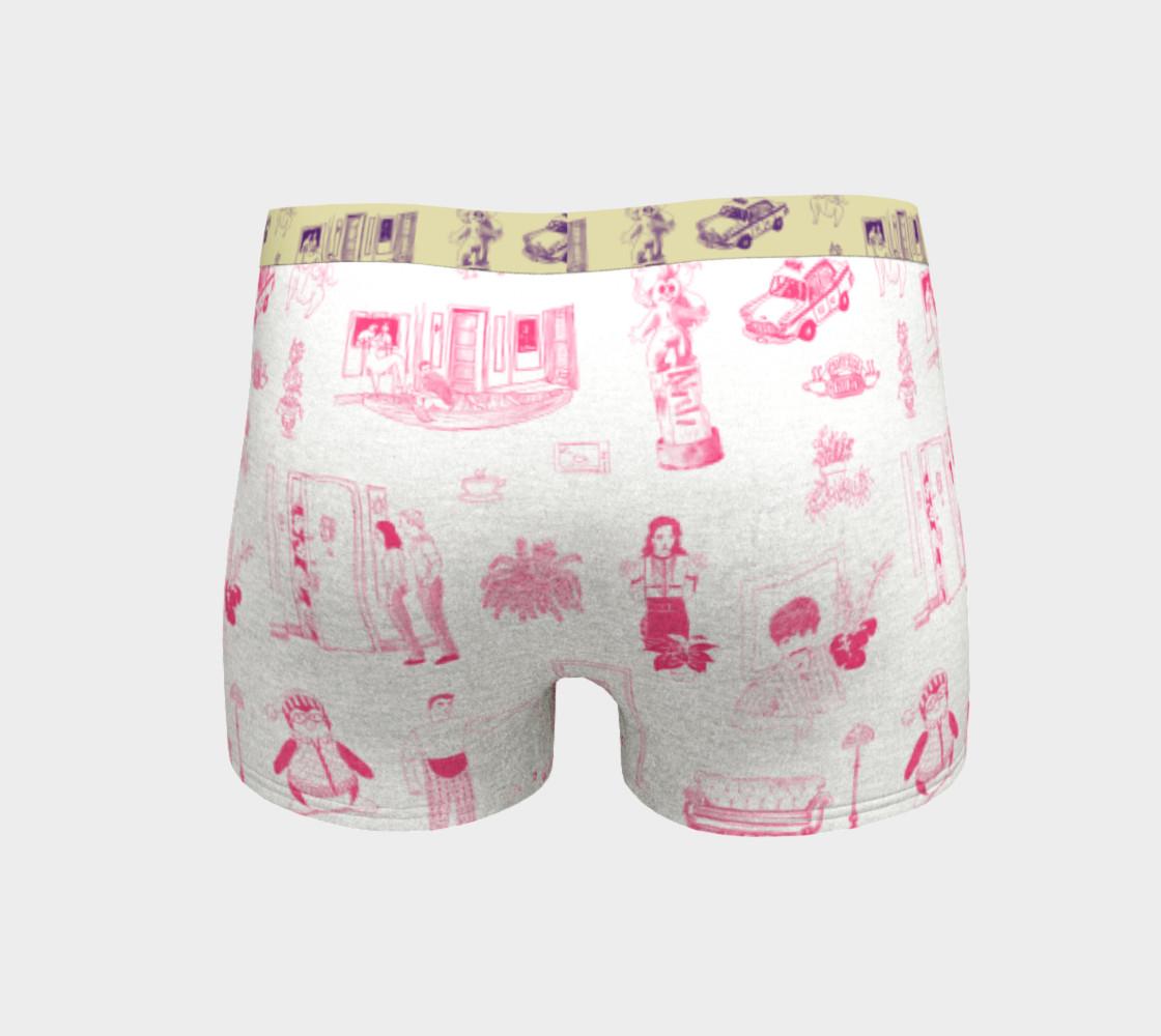 Aperçu de Friends Boyshorts in pink and white #4