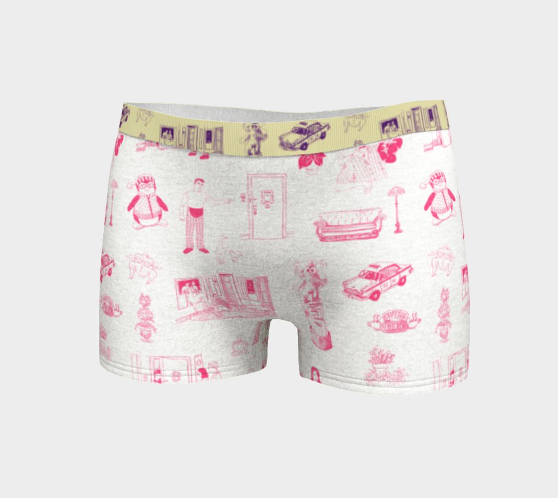 Aperçu de Friends Boyshorts in pink and white #3