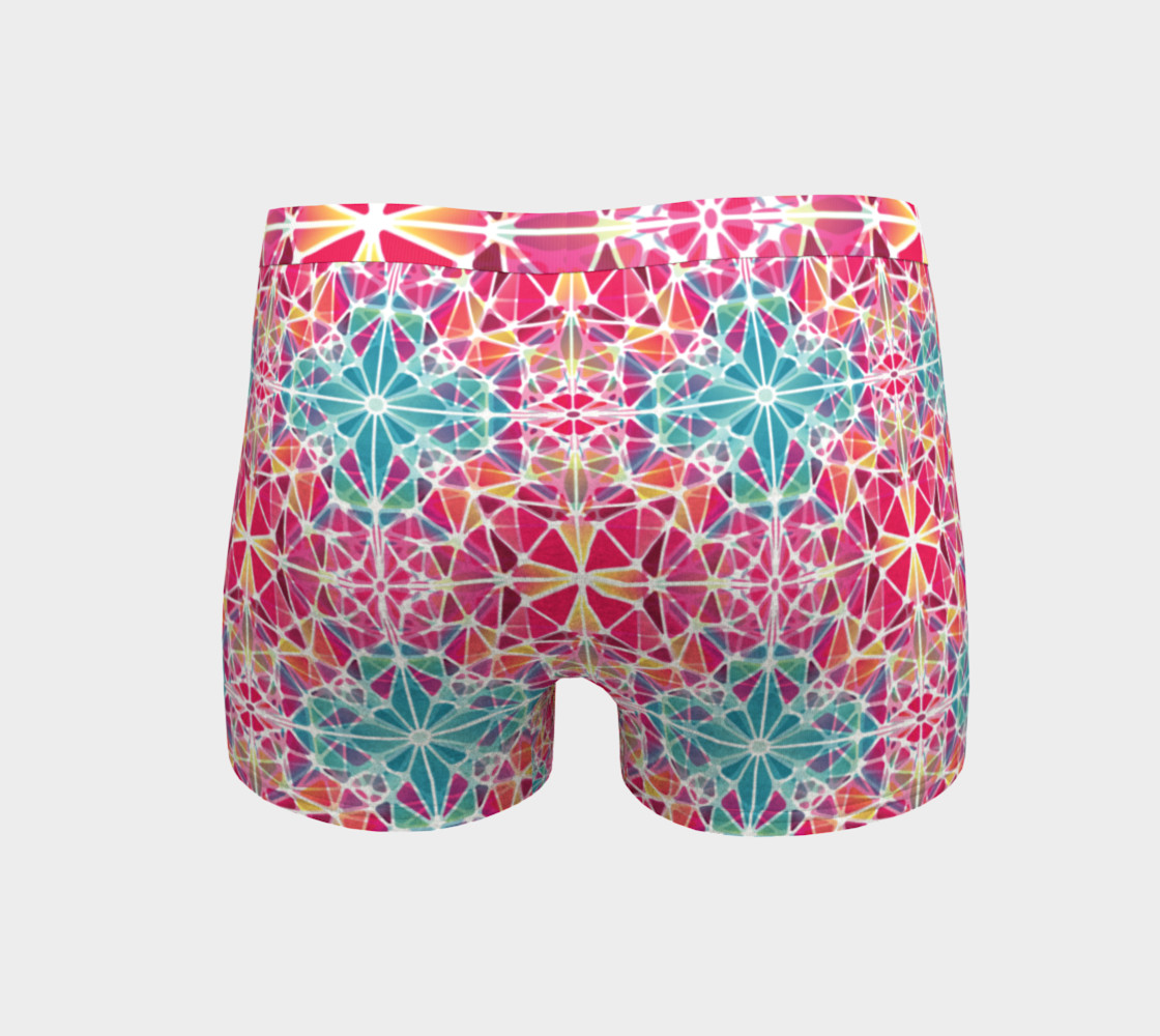 Aperçu de Pink and Blue Kaleidoscope Boyshorts #4