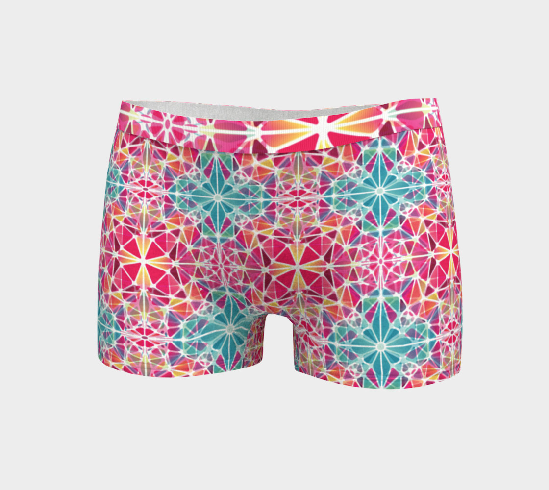 Aperçu de Pink and Blue Kaleidoscope Boyshorts #3