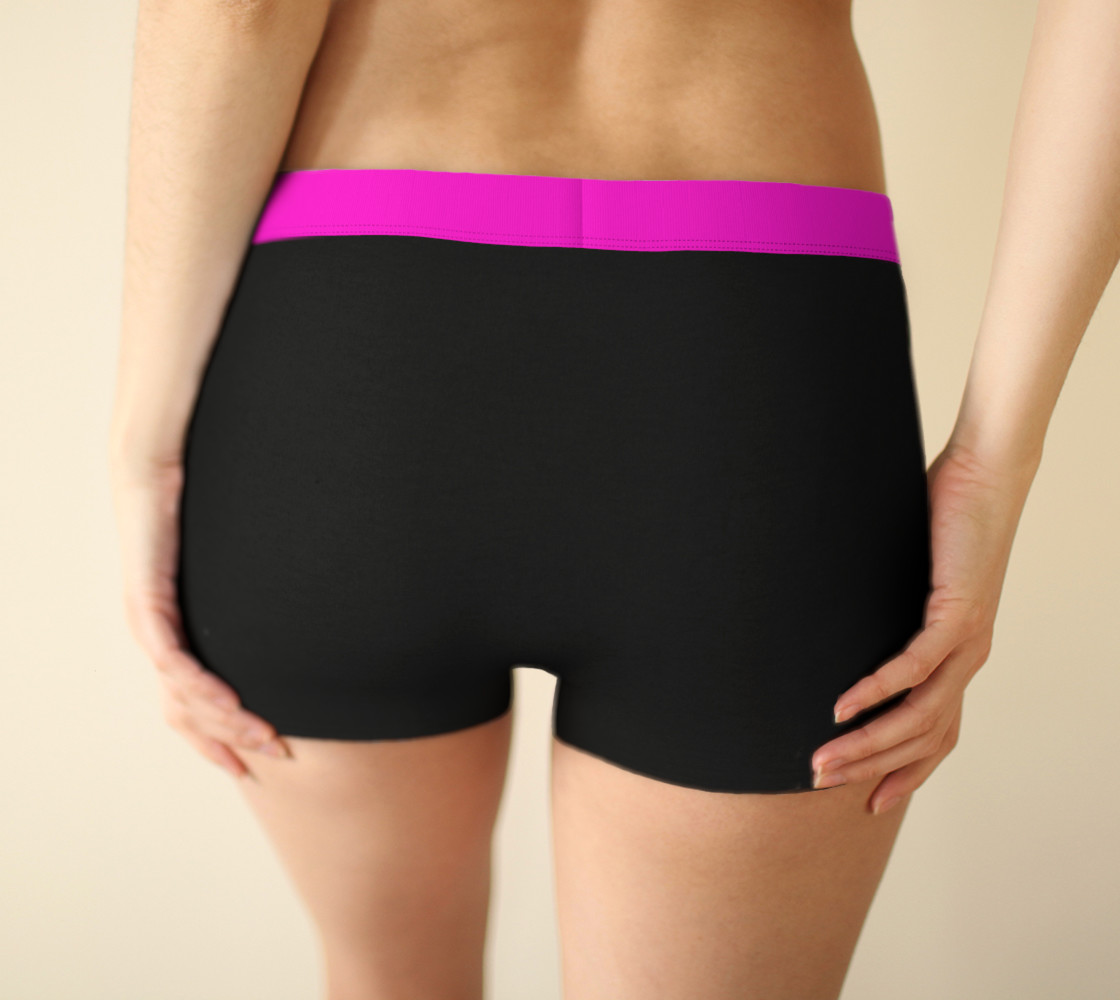 Wild Burro Two Tone Pink Black Boy Shorts preview #2