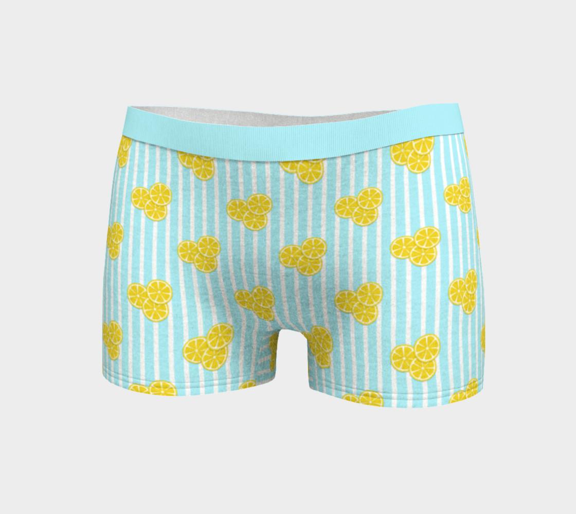 Lemon Slices on Light Blue Stripes preview #3