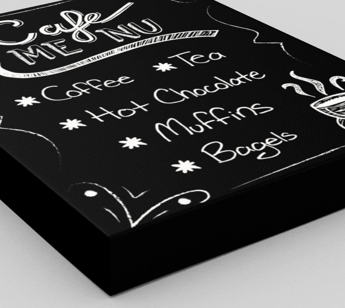 "Cafe Menu Canvas Print 11""x14"" preview #3"