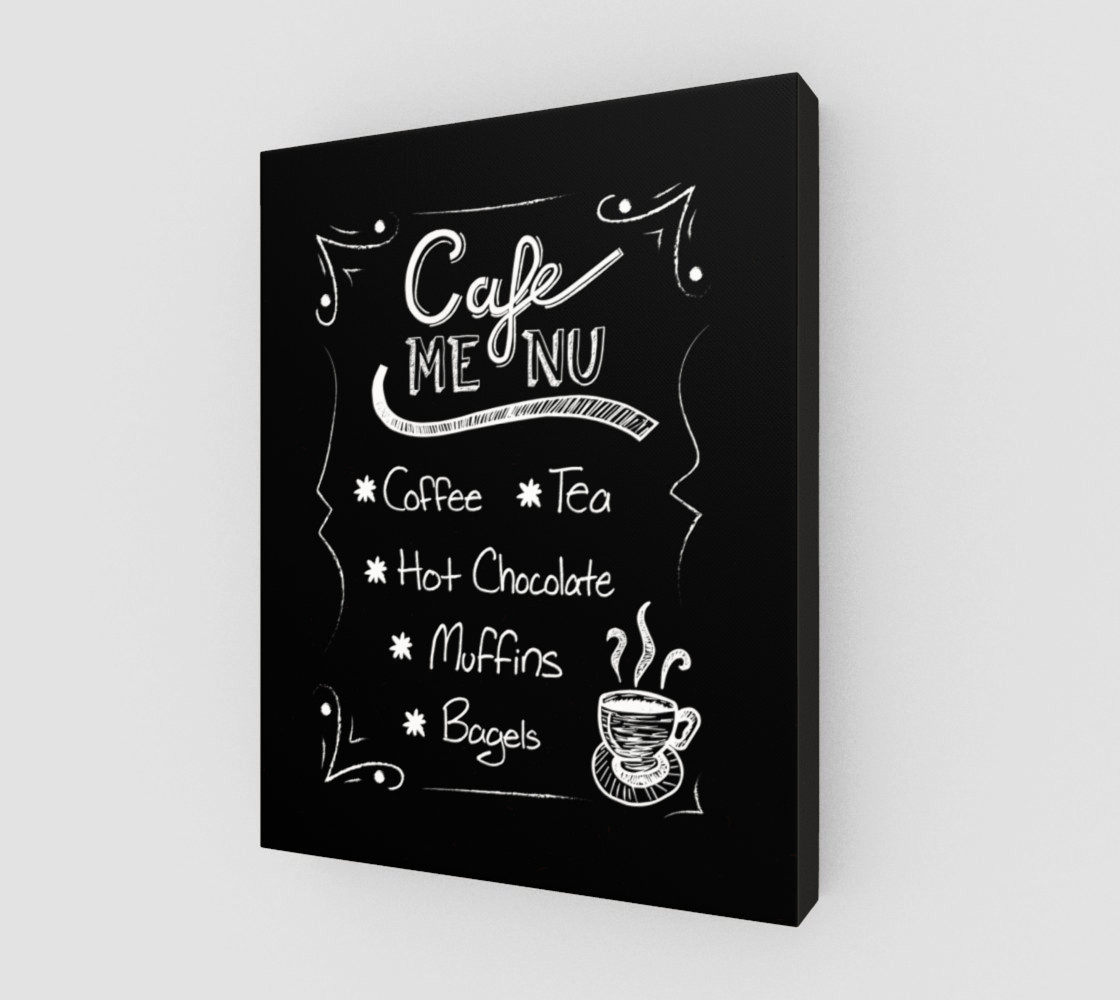 "Cafe Menu Canvas Print 11""x14"" preview #2"