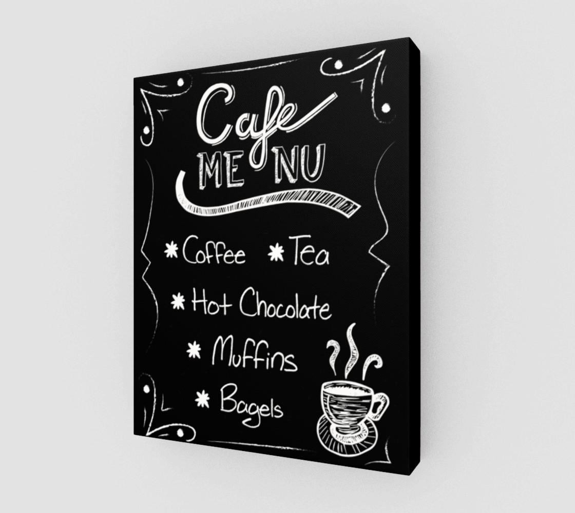 "Cafe Menu Canvas Print 11""x14"" preview #1"