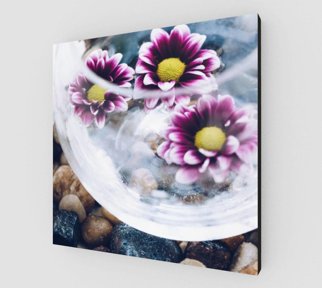 Aperçu de Purple Daisies Zen Wall Art #2