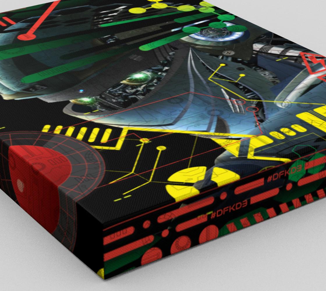 Aperçu de Futuristic Sci-Fi Techno Robot Wall Art #3