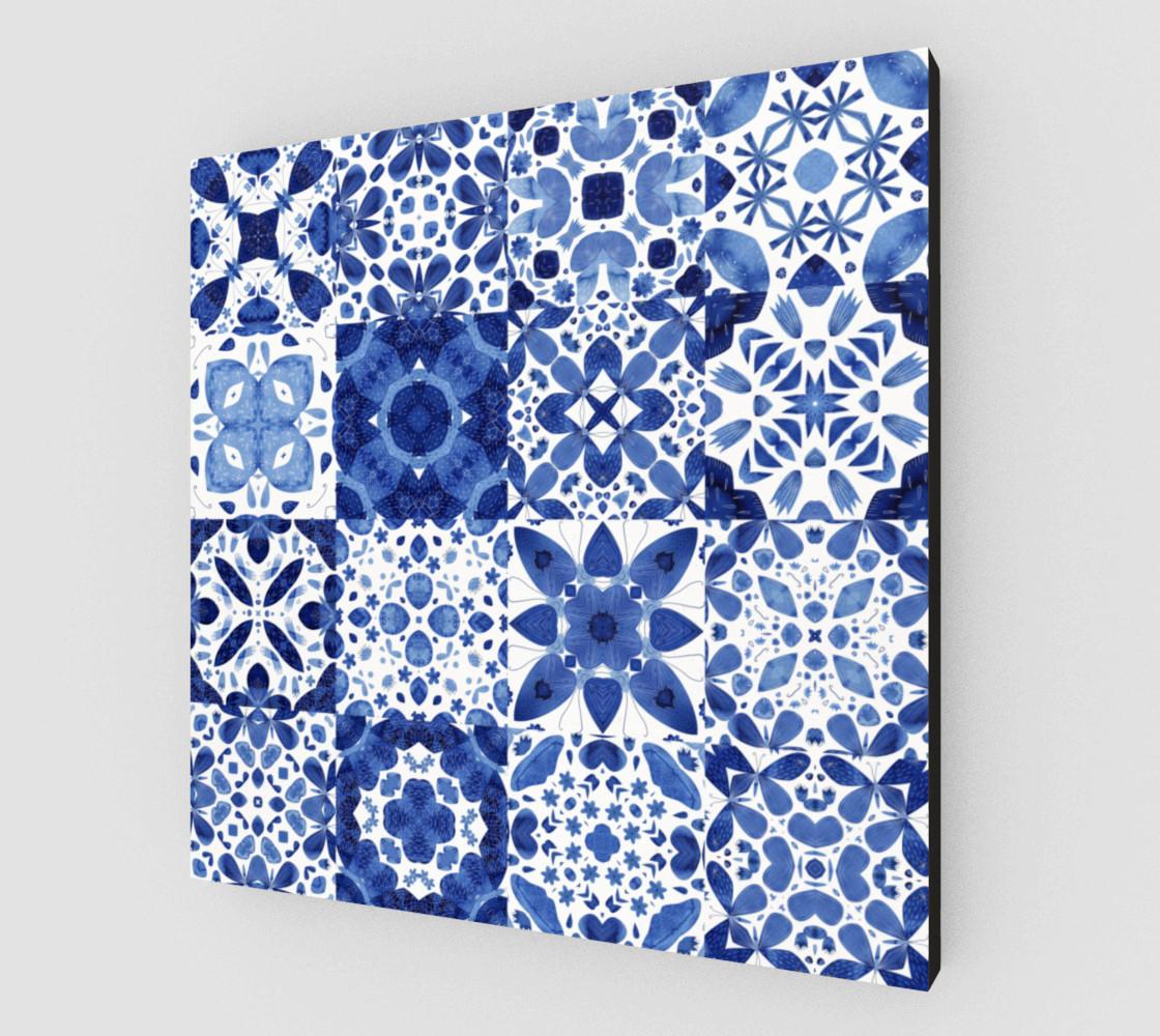 Indigo Watercolor Tiles preview #2