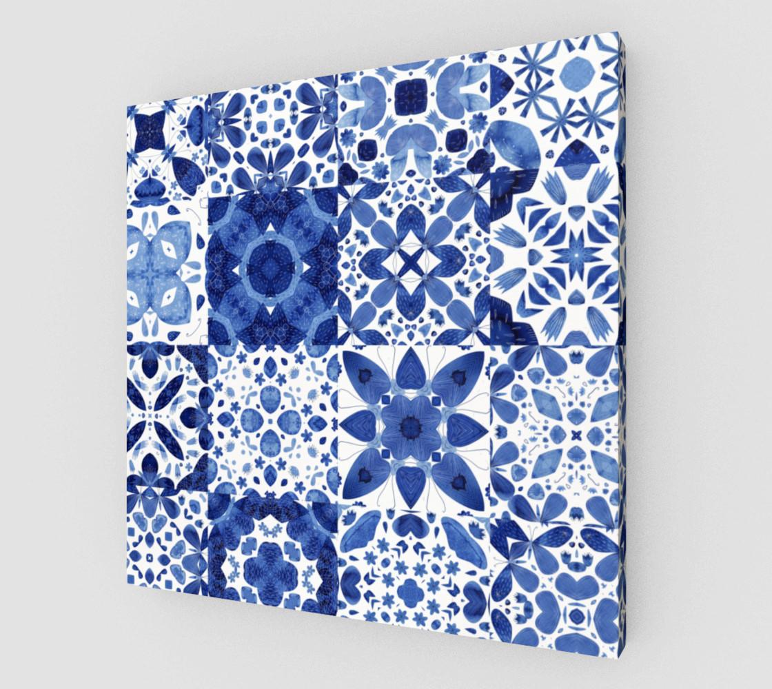 Indigo Watercolor Tiles preview #1
