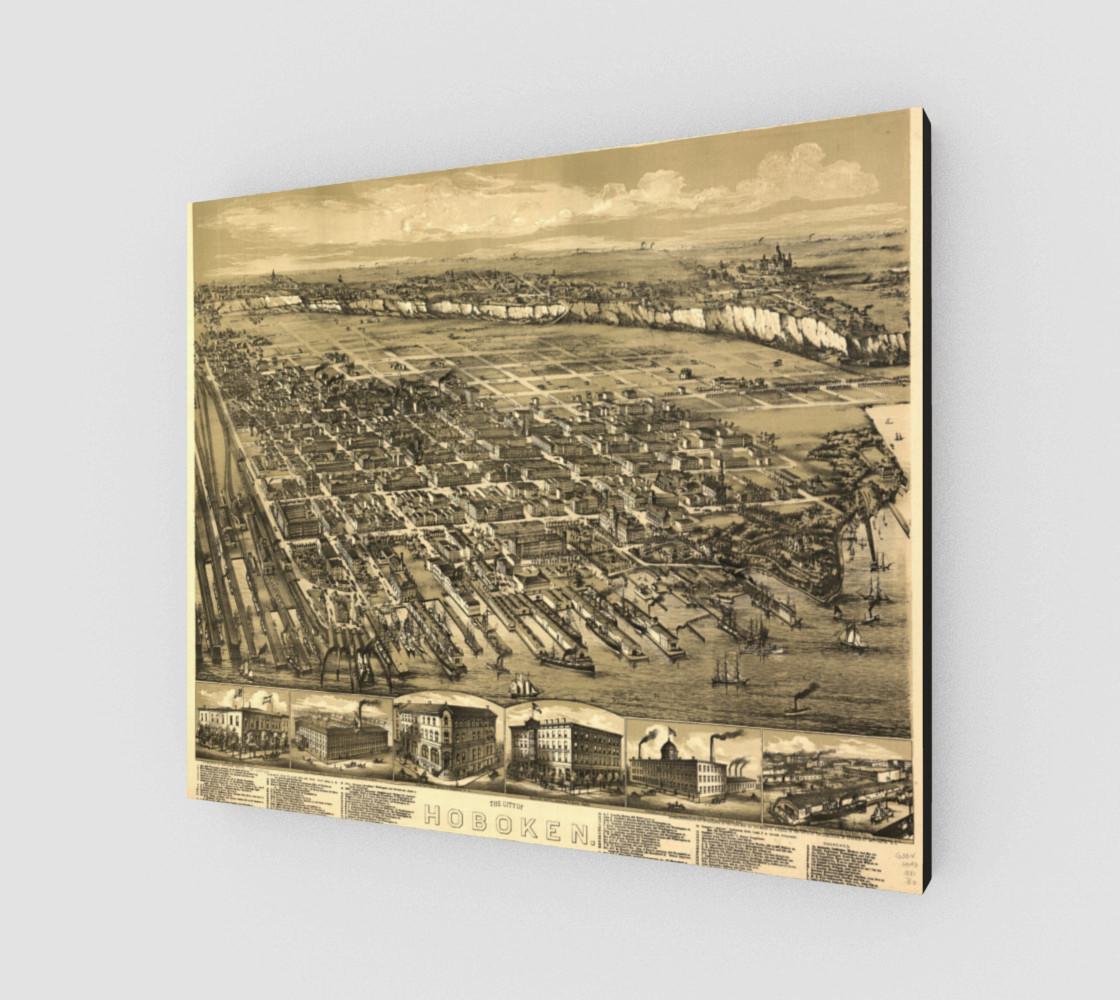 Aperçu de Hoboken, NJ Vintage Map #2