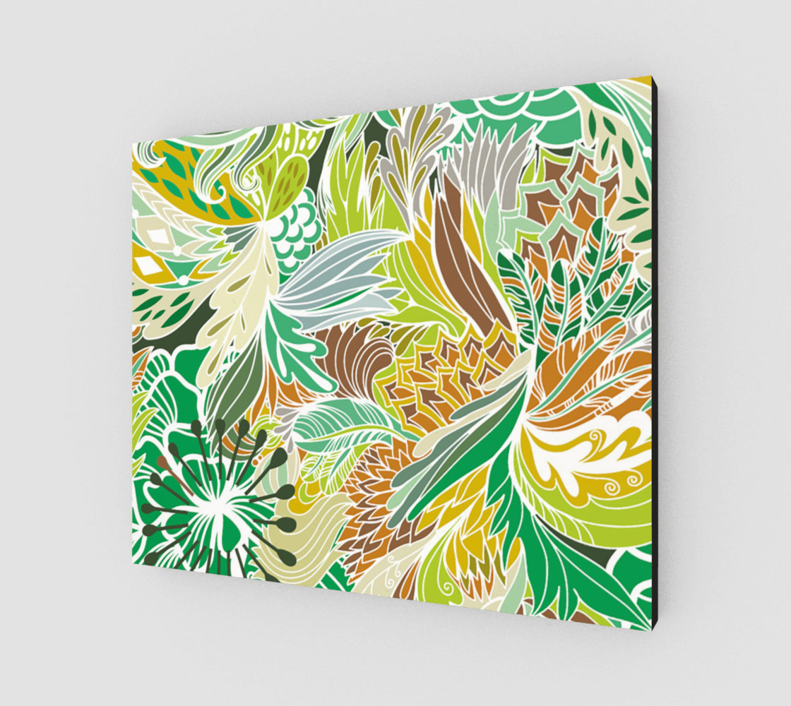 Aperçu de Green Fantasy Flowers  #2