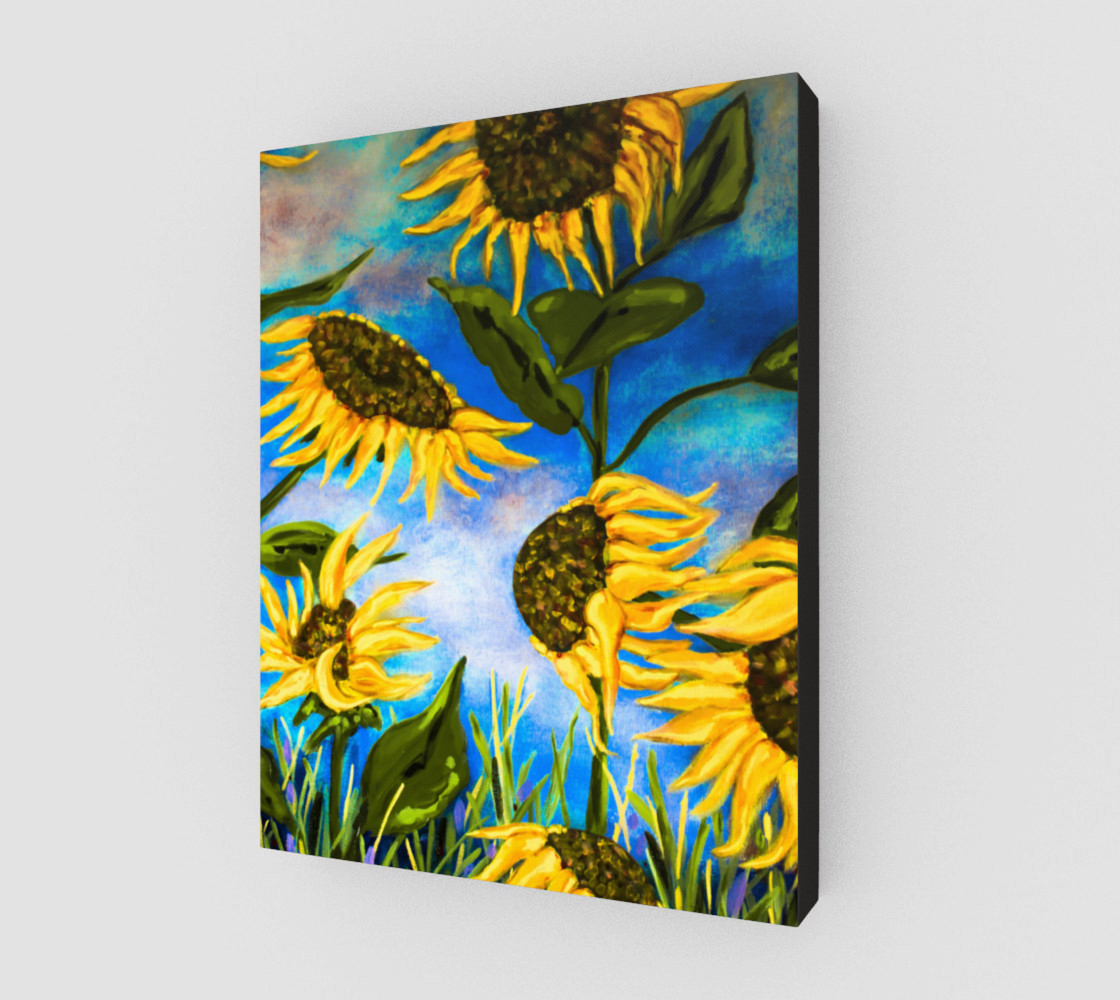Vibrant Sunflowers 11 x 14 preview #2