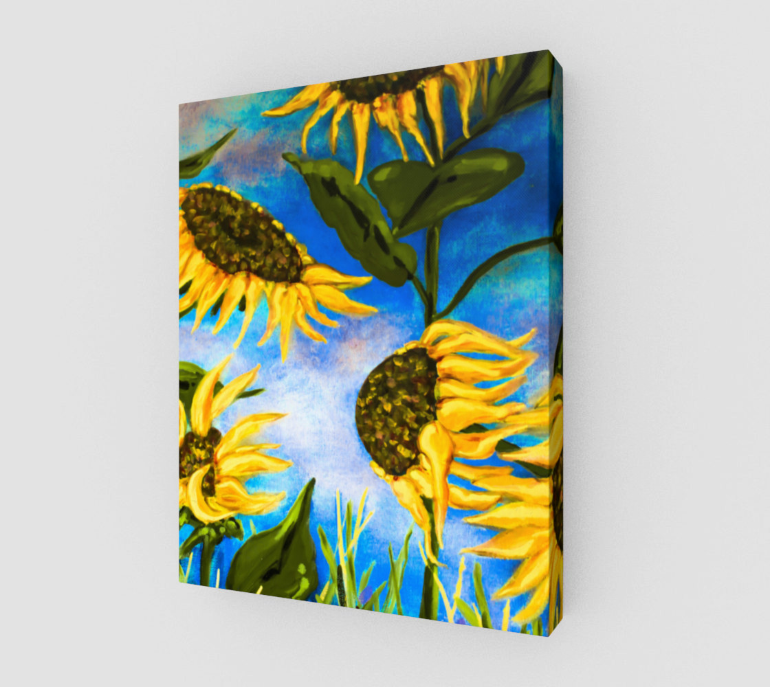 Vibrant Sunflowers 11 x 14 preview #1