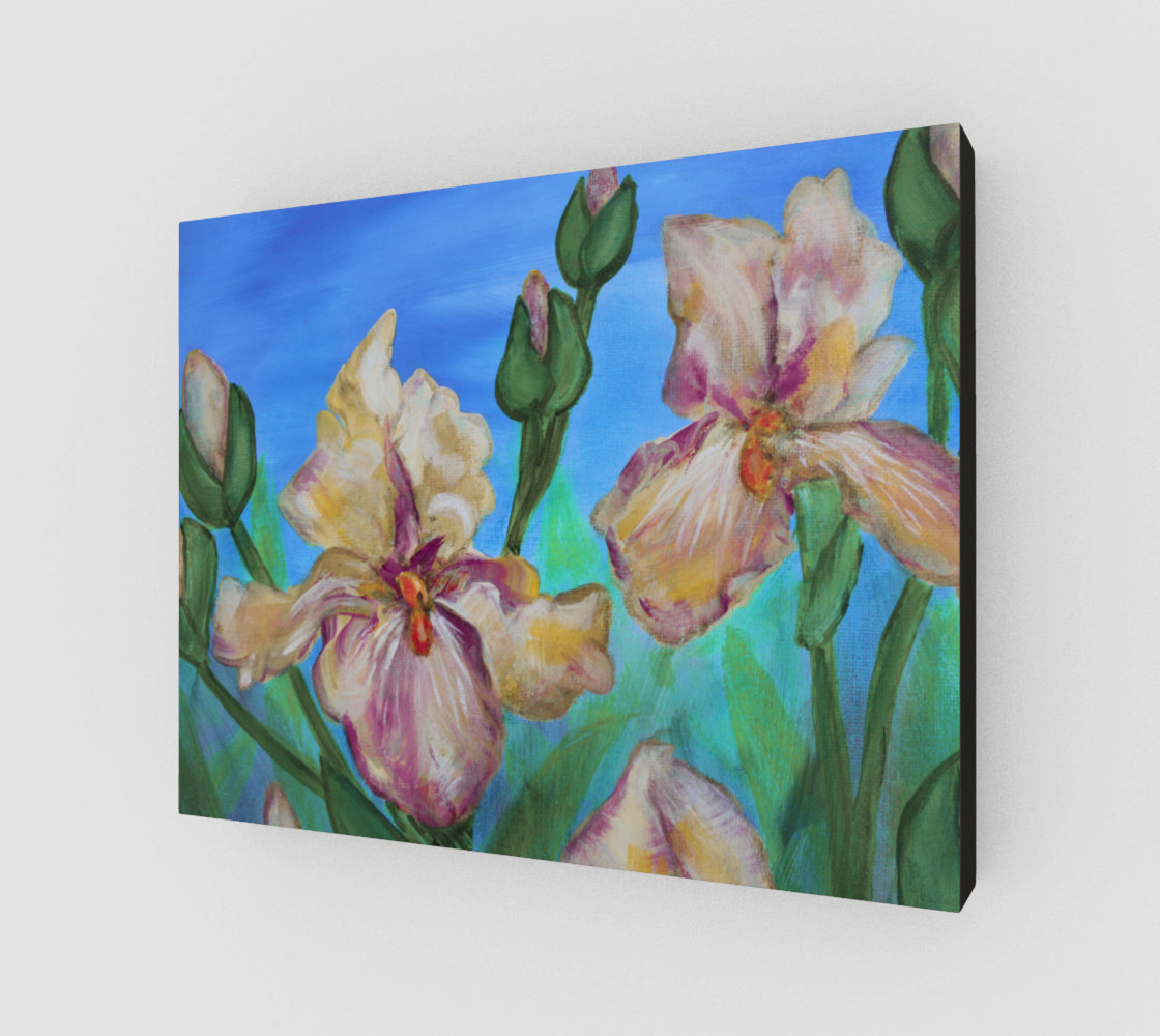 Variegated Irises 14 x 11 preview #2