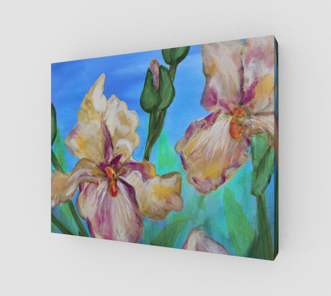 Variegated Irises 14 x 11 preview #1