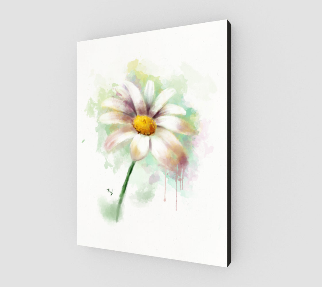 Watercolor daisy preview #2