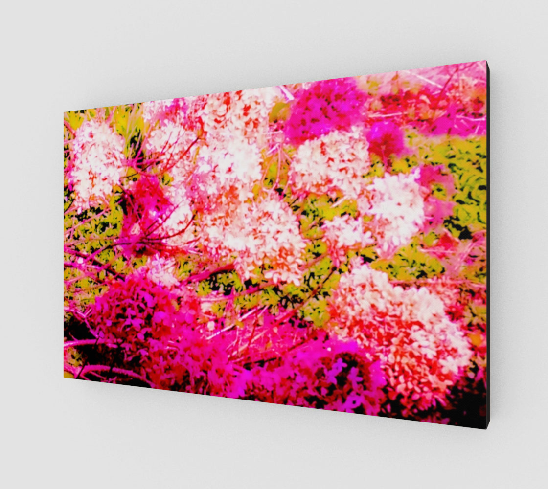 Vintage Inspired Pink Hydrangea Canvas preview #2