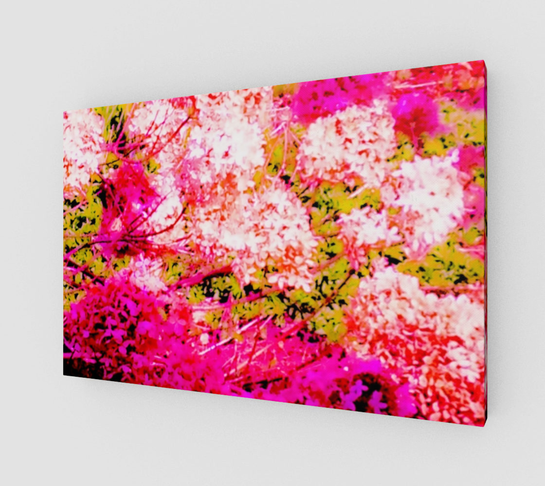 Vintage Inspired Pink Hydrangea Canvas preview #1
