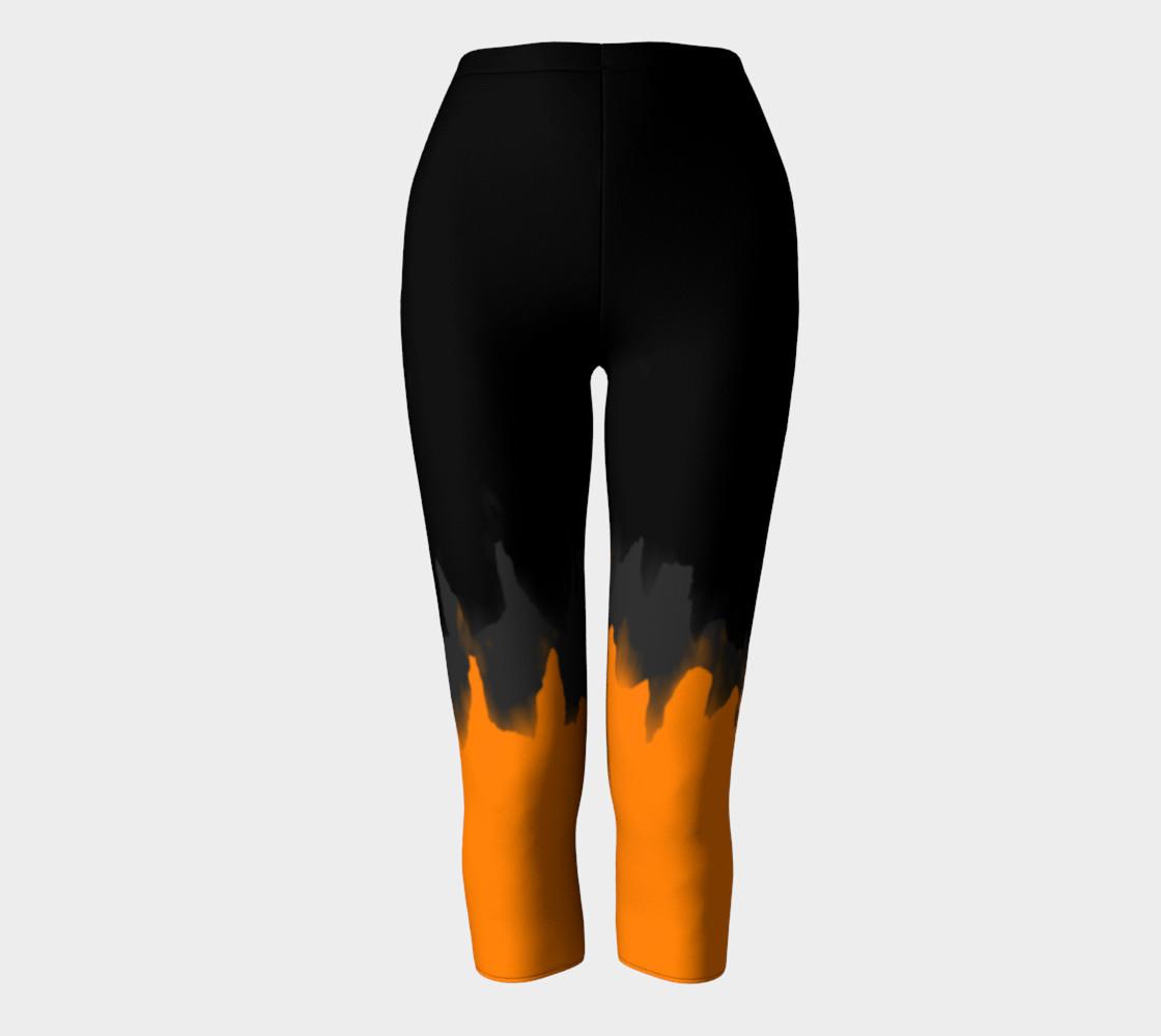 Black Grey & Orange Paint Smear preview #2
