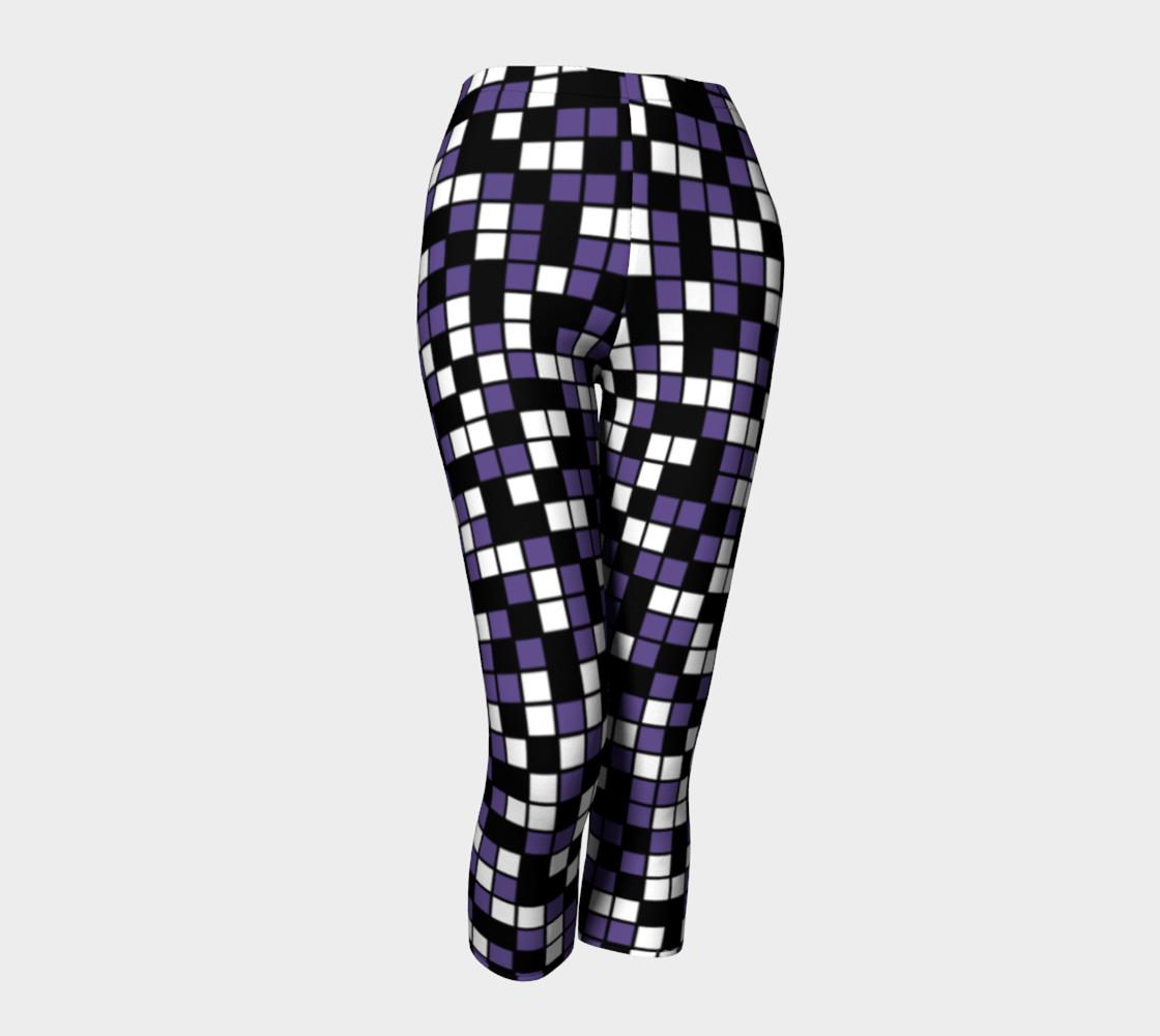 Aperçu de Ultra Violet Purple, Black, and White Random Mosaic Squares #1