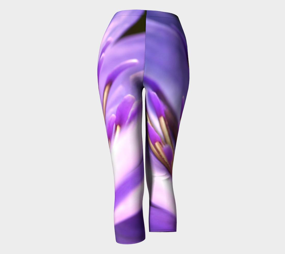 Purple Flower 2 Capris leggings preview #4