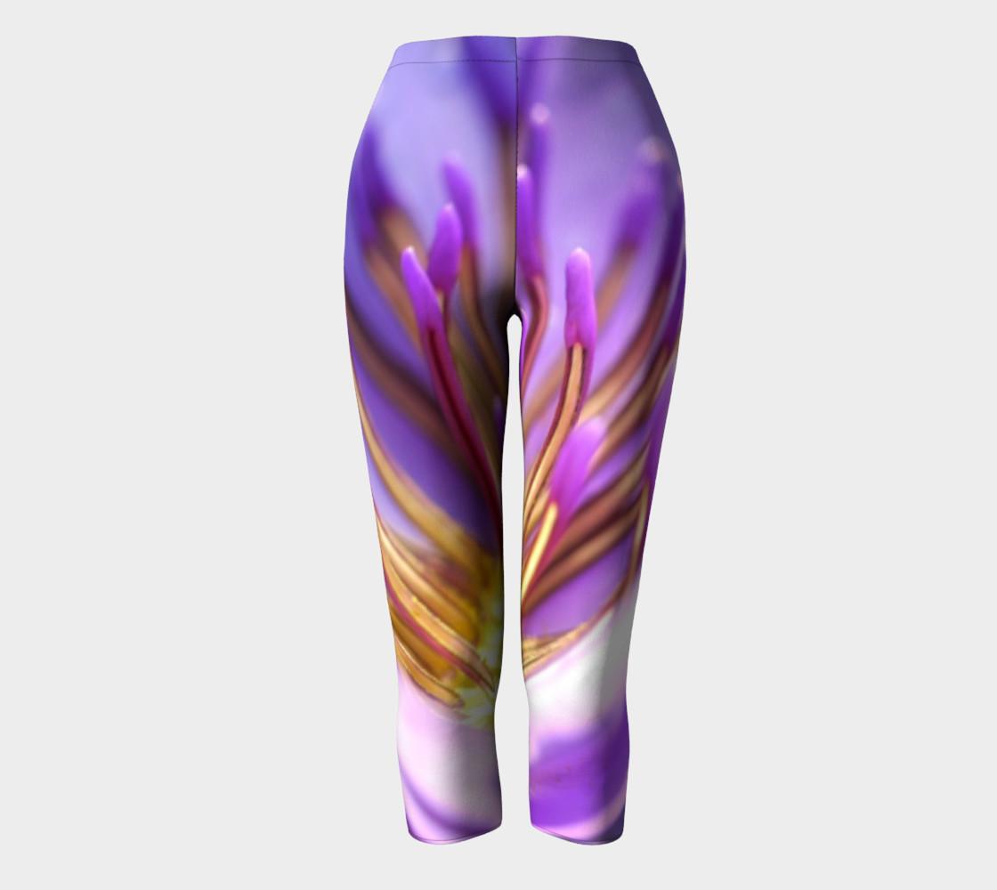 Purple Flower 2 Capris leggings preview #2