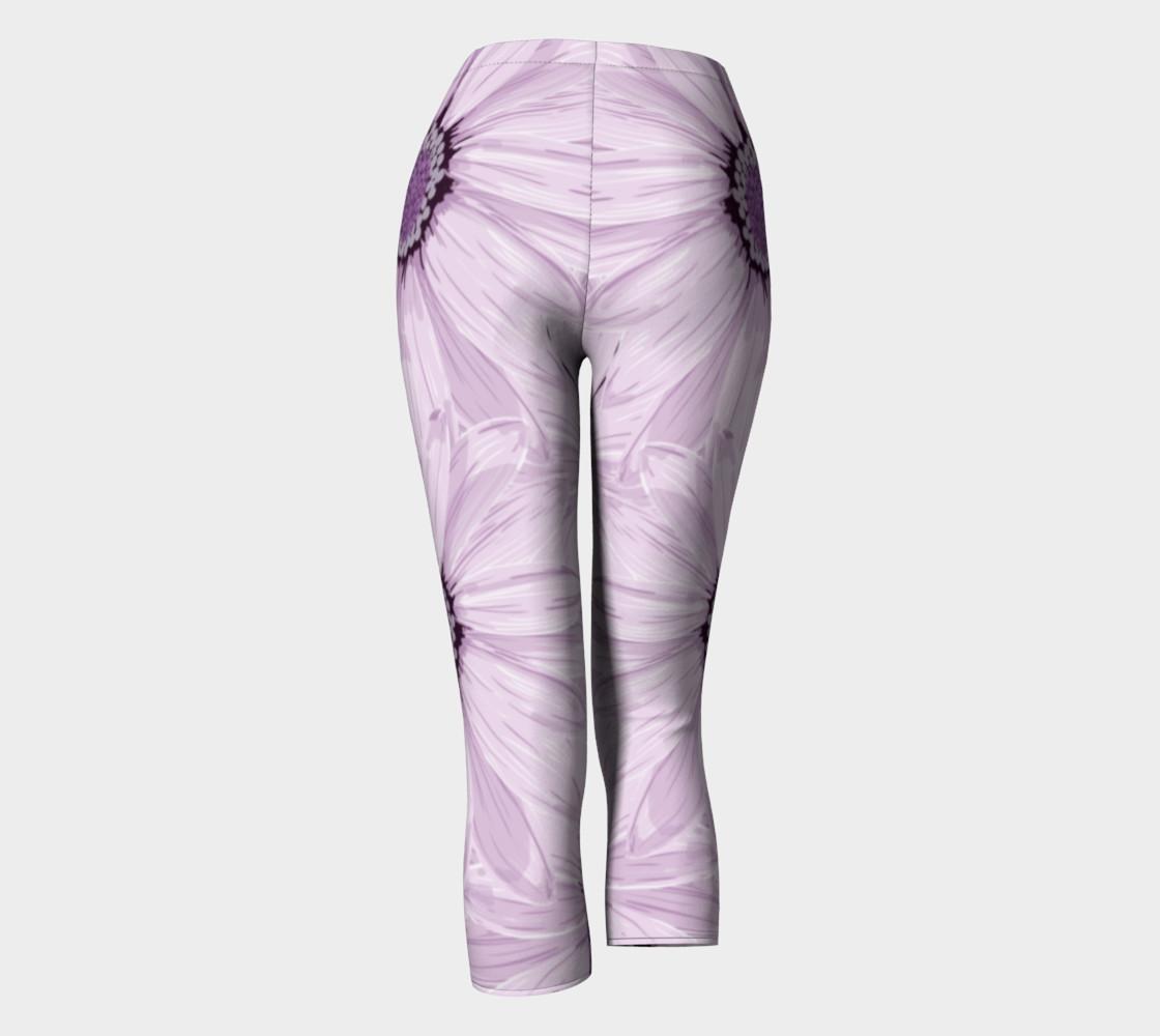 Purple Daisy Blast Capris leggings preview #4