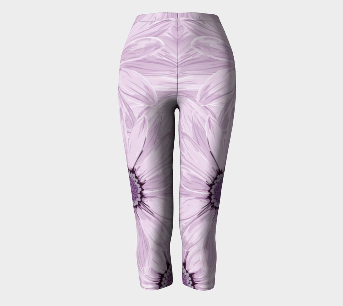 Purple Daisy Blast Capris leggings preview #2